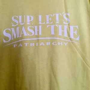 Let's smash the patriarchy yellow tee